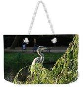 Crane In Evening Light Weekender Tote Bag