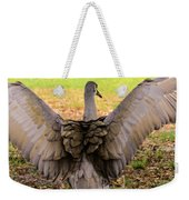Crane Spreading Wings Weekender Tote Bag