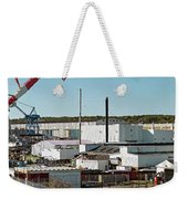 Cranes At Metal Factory, Bath Weekender Tote Bag
