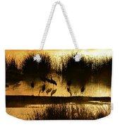 Cranes On Golden Pond Weekender Tote Bag
