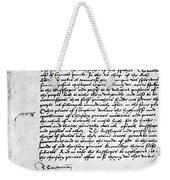 Cranmer Declaration, 1537 Weekender Tote Bag