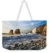 Crash - Waves From Soberanes Point In Garrapata State Park In California. Weekender Tote Bag