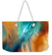 Crashing At Sea Abstract Painting 4 Weekender Tote Bag