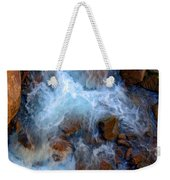 Crashing Falls On Rocks Below Weekender Tote Bag