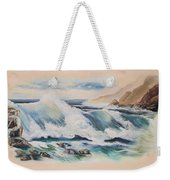 Crashing On The Rocks Weekender Tote Bag