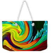 Crashing Wave Weekender Tote Bag by Amy Vangsgard