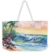 Crashing Waves At Sunrise Weekender Tote Bag