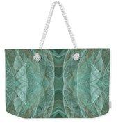 Crashing Waves Of Green 2 - Panorama - Abstract - Fractal Art Weekender Tote Bag