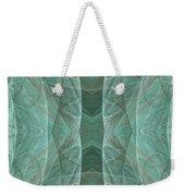 Crashing Waves Of Green 4 - Square - Abstract - Fractal Art Weekender Tote Bag
