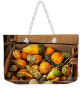 Crate Filled With Pumpkins And Gourts Weekender Tote Bag