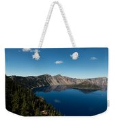 Crater Lake And Boat Weekender Tote Bag