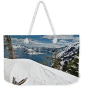 Crater Lake And Wizard Island In June Weekender Tote Bag