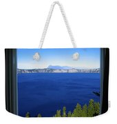 Crater Lake Through Our Window Weekender Tote Bag