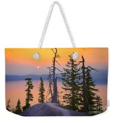 Crater Lake Trees Weekender Tote Bag by Inge Johnsson