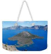 Crater Lake Wizard Island Weekender Tote Bag
