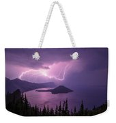 Crater Storm Weekender Tote Bag by Chad Dutson