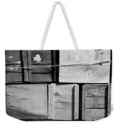 Crates At The Orchard 2 Bw Weekender Tote Bag