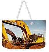 Crawler Excavator - Komatsu - Digger - Machinery Weekender Tote Bag