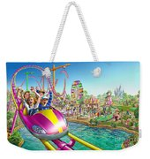 Crazy Coaster Weekender Tote Bag by Adrian Chesterman