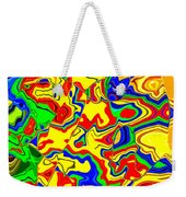 Crazy Day Abstract In Primary Colors  Weekender Tote Bag