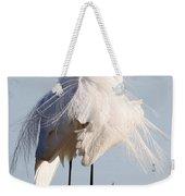 Crazy Egret Feathers Weekender Tote Bag