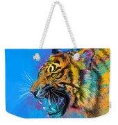 Crazy Tiger Weekender Tote Bag by Olga Shvartsur