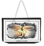 Cream And Sugar - Pottery Weekender Tote Bag
