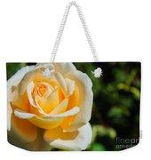 Cream Rose Weekender Tote Bag