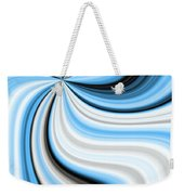 Creamy Blue Graphic Weekender Tote Bag