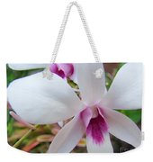 Creamy White And Hot Pink Orchid Weekender Tote Bag