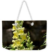 Creamy Yellow Snapdragon Weekender Tote Bag