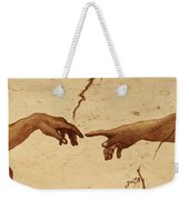 Creation Of Adam Hands A Study Coffee Painting Weekender Tote Bag