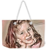 Creative Portrait Sample In Hdr Weekender Tote Bag