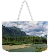 Creek Along Mountains, Mcdonald Creek Weekender Tote Bag