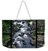 Creek Flow Polyptych Weekender Tote Bag