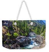 Creek Flowing Through Rocks, Icicle Weekender Tote Bag