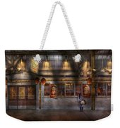Creepy - Apocalyptic - Obedience And Compliance Weekender Tote Bag by Mike Savad