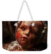 Creepy - Doll - It's Best To Let Them Sleep  Weekender Tote Bag by Mike Savad