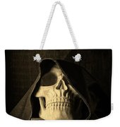 Creepy Hooded Skull Weekender Tote Bag
