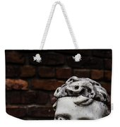 Creepy Marble Boy Garden Statue Weekender Tote Bag