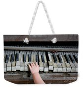 Creepy Piano Baby Weekender Tote Bag
