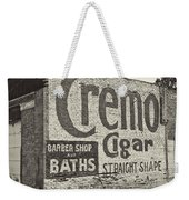 Cremo Cigar In Black And White Weekender Tote Bag