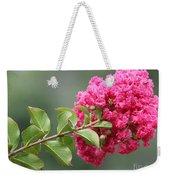 Crepe Myrtle Branch Weekender Tote Bag