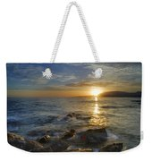 Crepuscular Rays At The Sea Weekender Tote Bag