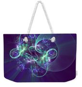 Crescent Moon And Fireworks Weekender Tote Bag