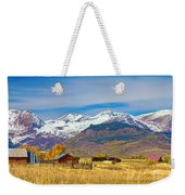 Crested Butte Autumn Landscape Panorama Weekender Tote Bag