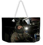 Crew Chief In A Uh-60 Black Hawk Weekender Tote Bag