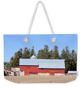 Crimson Barn Weekender Tote Bag