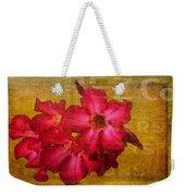 Crimson Floral Textured Weekender Tote Bag