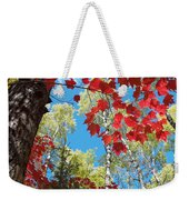 Crimson Foliage Weekender Tote Bag